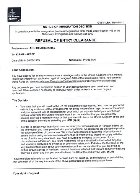 Explanation Letter For Visa Refusal Hello We A Where Someone Applied For A Uk Fiance