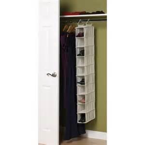 Hanging Shoe Storage by 10 Pocket Hanging Shoe Organizer 311322 16 99