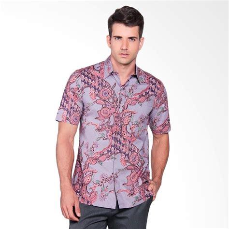 Kemeja Lengan Pendek Premium 11 jual batik heritage katun premium tulis rantai pendek kemeja batik pria ungu harga