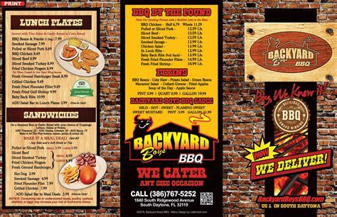 backyard boys bbq backyard boys bbq menu