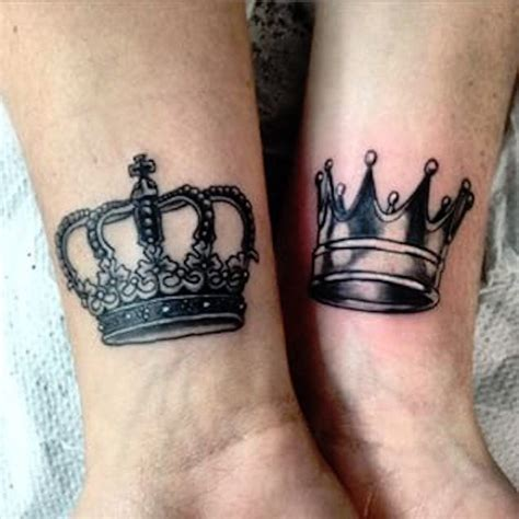 simple crown tattoo design simple king and queen crown tattoos creativefan