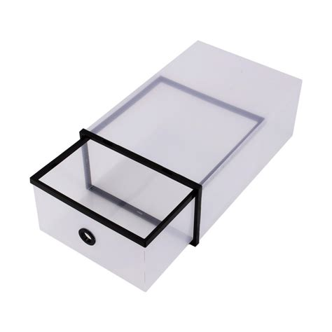 plastic pull out drawers aliexpress buy black plastic double pull shoebox