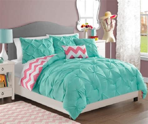 comforter sets for teen girls teen girls turquoise pink white reversible pintuck chevron