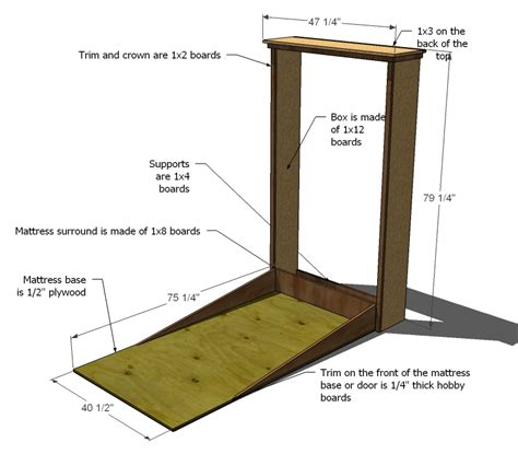 pdf plans murphy bed blueprints download wood picnic table