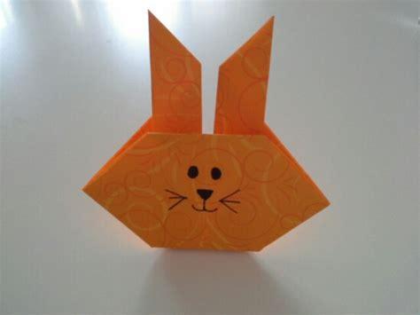Origami Hase Faltanleitung by Origami Hase Einfach Bastelmausi
