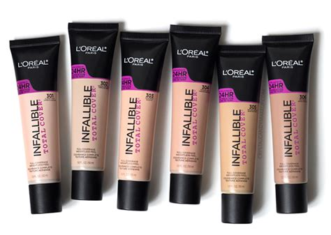 Harga L Oreal Infallible Total Cover Foundation makeup review swatches l or 233 al