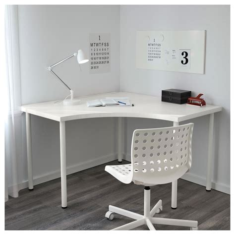 clean white computer desk setup from ikea linnmon adils adils linnmon corner table white 120x120 cm ikea