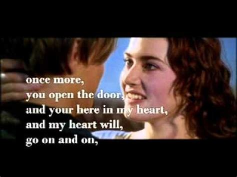 film titanic song lyrics celine dion my heart will go on lyrics and dialogue