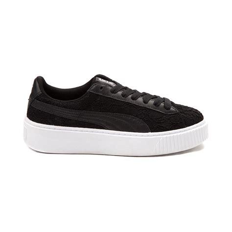 platform athletic shoes womens basket platform athletic shoe black 361728