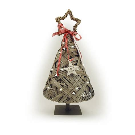 led light up wicker christmas tree by little red heart