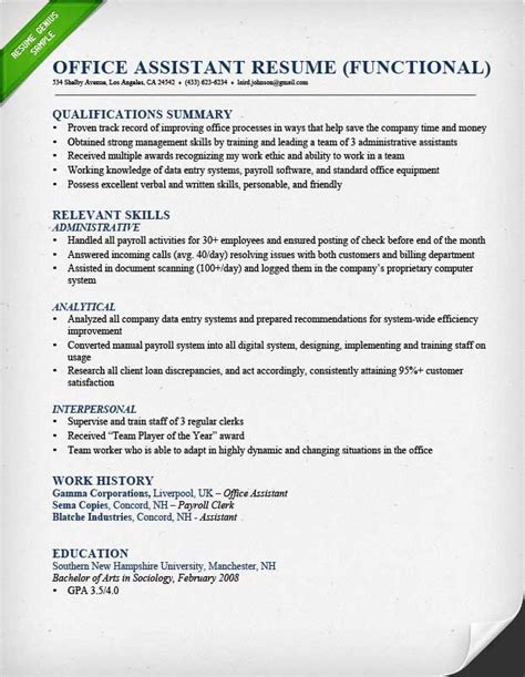 Resume Help Qualifications Resume Help Qualifications