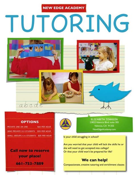 templates for tutoring flyers tutor flyer google da ara tutor flying pinterest