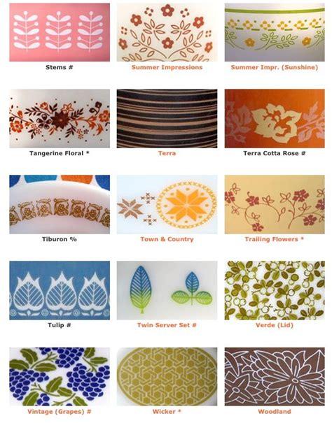 vintage pyrex pattern list pyrex patterns 10 pyrex pinterest antique glass