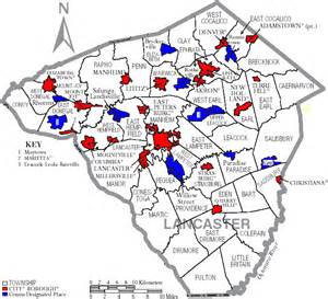 map of lancaster transportation in lancaster county pennsylvania