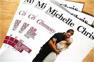 Wedding Programs Fans Unique Wedding Programs From Milwaukee S The Album Factory Marriedinmilwaukee Com