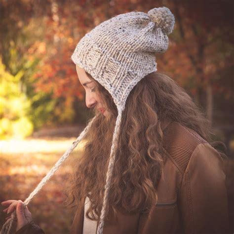 loom knit earflap hat loom knit earflap hat pattern split brim hat bulky