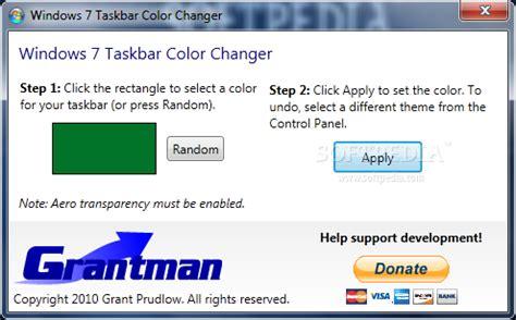 windows 7 change taskbar color windows 7 taskbar color changer