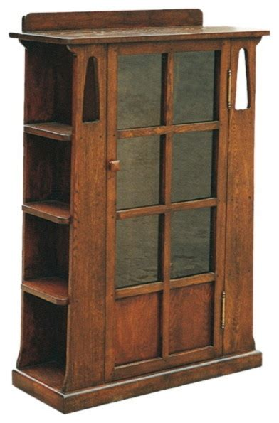 craftsman bookshelves arts and crafts mission oak bookcase with cutouts and side shelves craftsman bookcases by