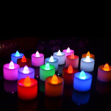 candlelight color 5pcs new arrival 6 colors candle shape led fliker