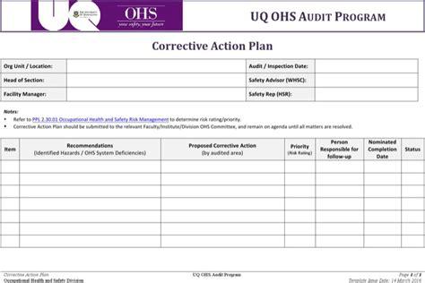 corrective plan templates plan templates free premium templates