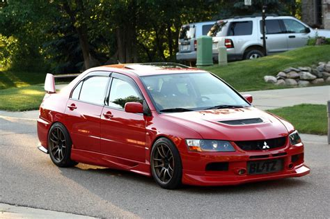 mitsubishi evo red 2003 mitsubishi lancer evolution information and photos