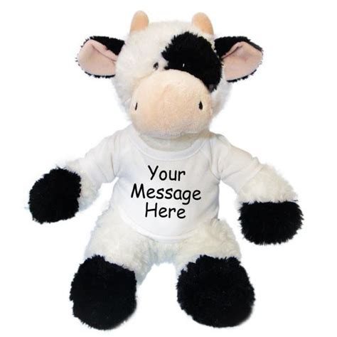 personalized stuffed animal plush 12 inch cow
