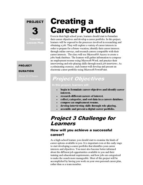 Best Photos Of Career Portfolio Sles Job Portfolio Exles Career Portfolio Cover Page Career Portfolio Template