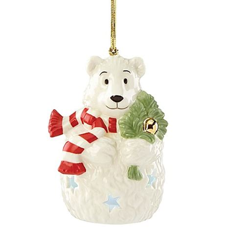 buy lenox 174 lit color changing polar bear ornament from bed