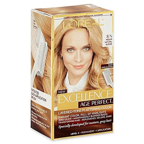 8n hair color l oreal 174 excellence 174 age permanent hair color in