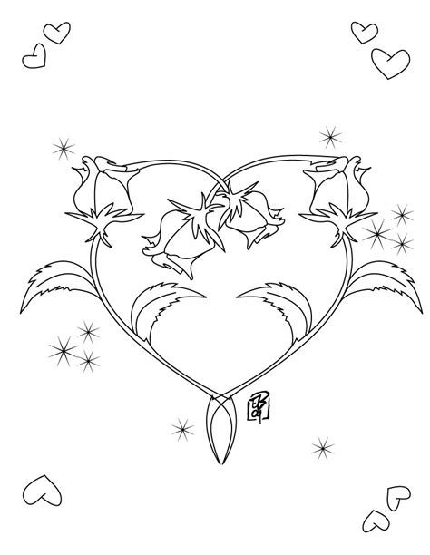 coloring pages heart and roses free printable heart coloring pages for kids