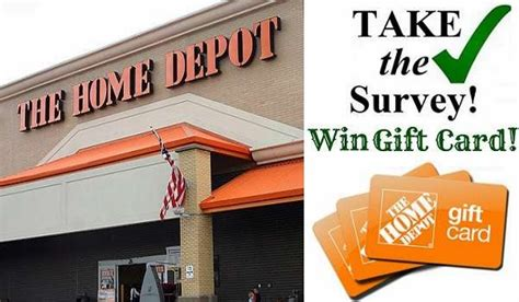 home depot opinion survey sweepstakes win 5 000 home