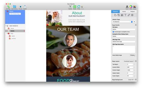 Everweb Features Mac Website Builder Wysiwyg Website Sandvox Pro Templates