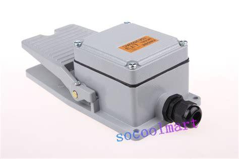 Saklar Untuk Motor nonslip logam ac 250 v ue 10a sesaat no nc pedal saklar kaki untuk motor di komponen elektronik