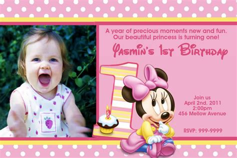 minnie mouse 1st birthday invitations templates minnie mouse 1st birthday invitations ideas bagvania