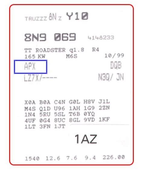 Vw Motorcode Aufkleber suche motorcode seatforum community f 252 r seat fans