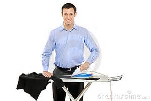 Elements Of Design Faucet Happy Young Man Ironing His Clothes Stock Image Image