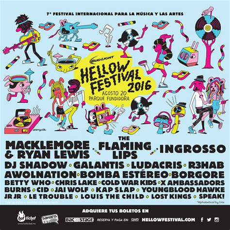 the w h o l e books conoce el line up de hellow festival 2016