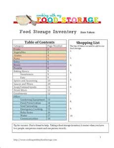cooking with my food storage food storage inventory