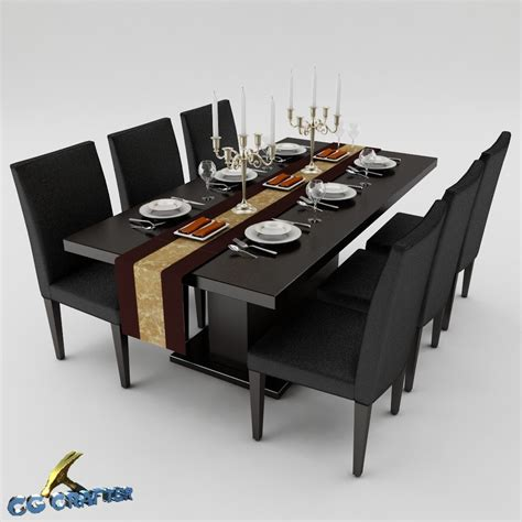 max dining table 3ds max dining table set
