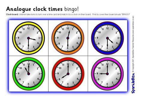 printable learning clock minieco co uk analogue clock times bingo o clock and half past sb1097