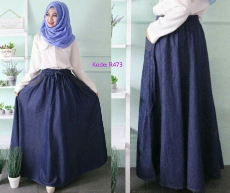 Overall Rok Payung W196 rok payung karet r473 baju style ootd