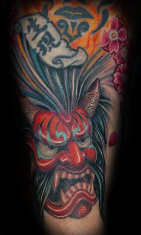 hannya mask tattoo traditional art by marvin silva tattoos traditional asian hannya