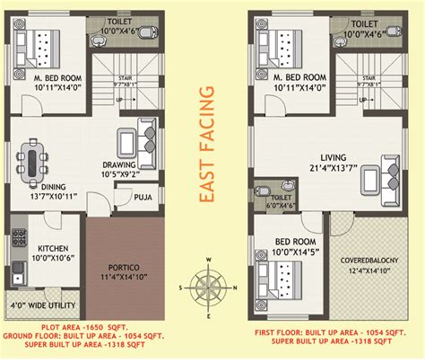 house plans as per vastu east facing east facing 2 bedroom house plans as per vastu