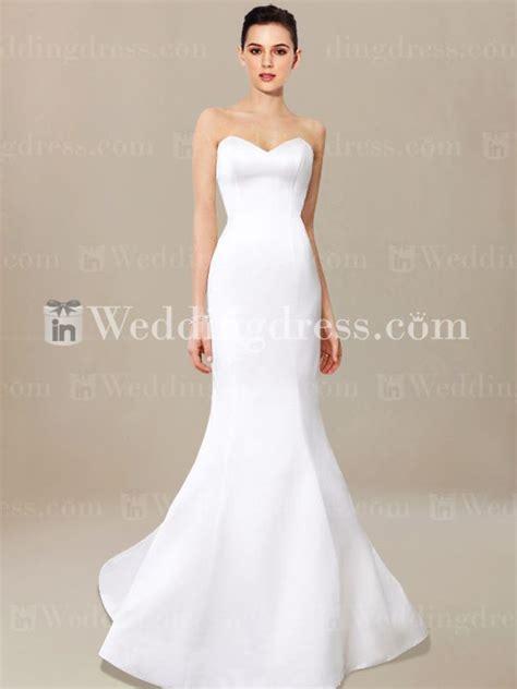 simple mermaid wedding dress me003