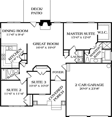 how many stories is 1000 feet 3 bdrm bungalow craftsman house plan 180 1000 1387