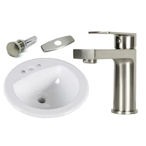 19 round drop in bathroom sink