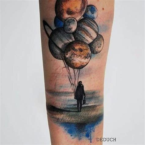 colorful planet balloons tattoo venice tattoo art designs