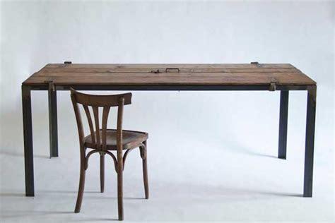 manoteca reincarnates a vintage door as a rustic desk