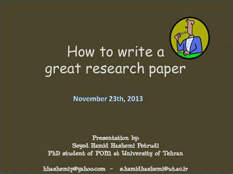 how to write a great research paper how to write a great research paper