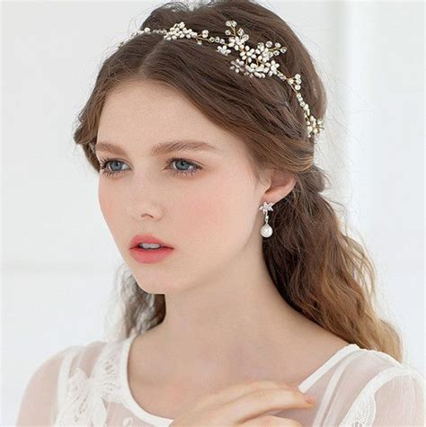 hair styles with rhinestones boho bridal halo headpiece rhinestone wedding by